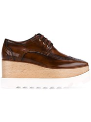 Stella Mccartney Elyse Wooden Platform Brogues Brown
