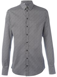 Dolce And Gabbana Dot Print Shirt Black
