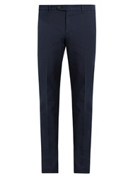 Brunello Cucinelli Cotton Chino Trousers Blue