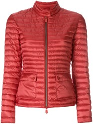 Save The Duck Round Neck Padded Jacket Red
