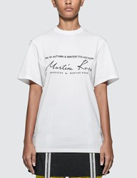 Martine Rose Classic T Shirt White