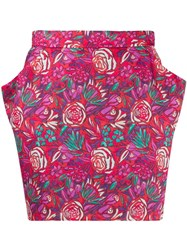 Roseanna Hendrix Turner Floral Skirt Red
