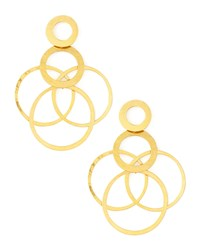 Interlocked Hoops Drop Earrings Herve Van Der Straeten Gold