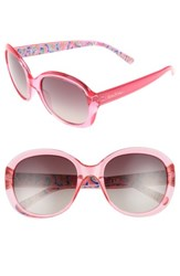 Lilly Pulitzerr Women's Pulitzer Magnolia 57Mm Polarized Round Sunglasses Pink