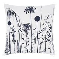 Clarissa Hulse Seed Heads Cushion 45X45cm White Ink