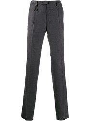 Incotex Slim Fit Tailored Trousers Grey
