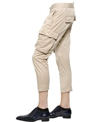 Dsquared Light Stretch Cotton Twill Cargo Pants