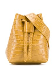 Nanushka Mini Bucket Bag Yellow
