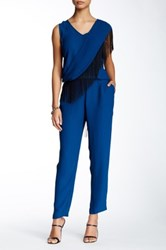 Twelfth St. By Cynthia Vincent Scarf Jumpsuit Blue