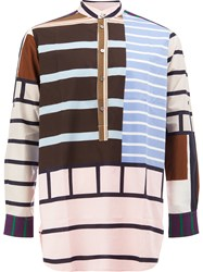 Pierre Louis Mascia Striped Henley Shirt Multicolour