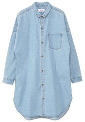 Mango Star Shirt Medium Blue