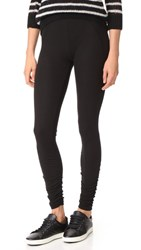 James Perse Ruched Ankle Leggings Black