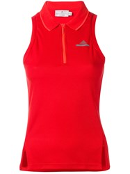 Adidas By Stella Mccartney Fitted Sports Tank Top Red