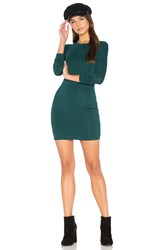 Blq Basiq Mini Long Sleeve Dress Green