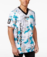 Black Pyramid Men's Camouflage Embroidered Baseball Jersey White