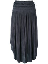 Ulla Johnson Curved Pleated Skirt Women Polyester 2 Grey