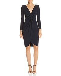 Armani Collezioni Ring Detail Dress Dark Blue