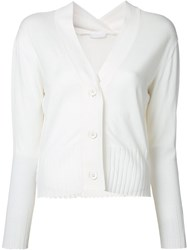 Rito V Neck Cardigan White