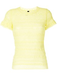 Marc Cain Lace T Shirt Yellow And Orange