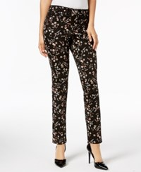 Charter Club Bristol Printed Skinny Ankle Jeans Created For Macy's Deep Black Combo