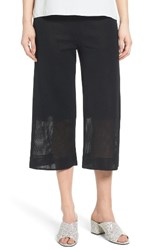 Ming Wang Women's Mesh Inset Crop Pants