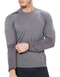 Mpg Long Sleeve Athletic Tee Heather Charcoal