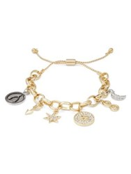 Rj Graziano S Initial Adjustable Charm Bracelet Gold