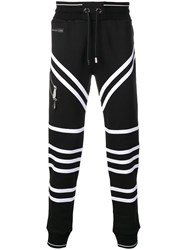 Philipp Plein Striped Track Pants Black