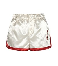 Tommy Hilfiger Satin Shorts With Applique White