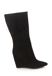 Forever 21 Faux Suede Wedge Boots