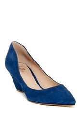 Belle By Sigerson Morrison Whitney Pointed Toe Wedge Blue