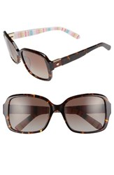 Kate Spade Women's New York Annor 54Mm Polarized Sunglasses Black Pattern