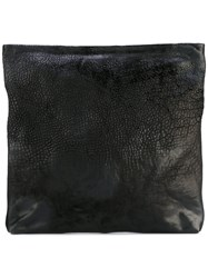 The Last Conspiracy Large Reversed Clutch Women Horse Leather One Size Black