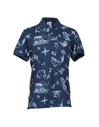 Franklin And Marshall Polo Shirts Dark Blue