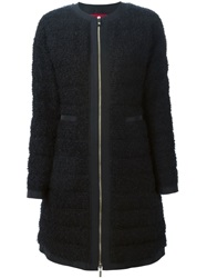 Moncler Gamme Rouge Matted Padded Coat Black