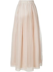 Brunello Cucinelli A Line Maxi Skirt Nude And Neutrals