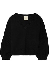 Mason By Michelle Mason Wool And Cashmere Blend Sweater Black