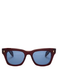 Jacques Marie Mage Dealan D Frame Acetate Sunglasses Red