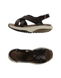 Mbt Sandals Dark Brown