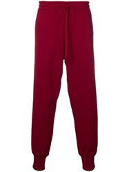 Y 3 Drawstring Waist Trousers Red