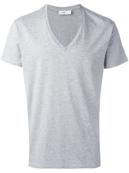 Closed V Neck T Shirt Grey