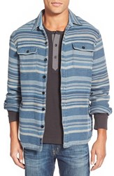 Men's Faherty 'Durango' Stripe Flannel Shirt Jacket