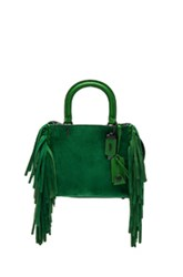 Coach 1941 Suede Fringe Rogue Bag In Green