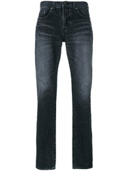 Saint Laurent Classic Skinny Jeans Men Cotton 30 Black