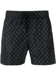 Rrd Anchor Pattern Swimming Shorts Blue