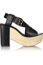 Thakoon Addition Bassy Woven Leather Platform Sandals