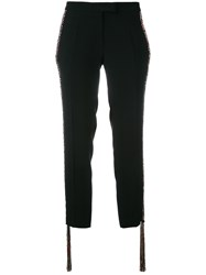Marco De Vincenzo Cropped Trousers Black