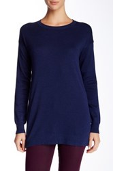 Cullen Double Knit Side Zip Tunic Blue