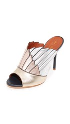 Malone Souliers Donna Open Toe Mules Nude Cinnamon Caramel White