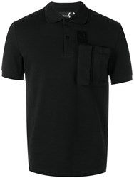 Fred Perry Raf Simons X Cargo Pocket Polo Shirt Black